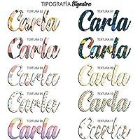 Nombres en Vinilo Nombres Decorativos personalizados .Edición especial Nombres con Texturas, Nombres en pegatina niños,Nombres Personalizados con texturas a color !…