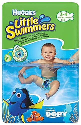 Huggies Little Swimmers Schwimmhöschen, Größe 3-4 (7-15 kg), 12 Stück