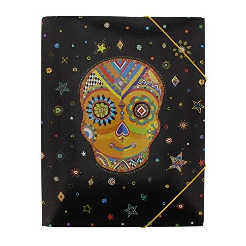 Goldbuch Sammelmappe A3, Generation Y Skull, 43 x 31 cm, Kunstdruck mit Goldprägung und Relief,...