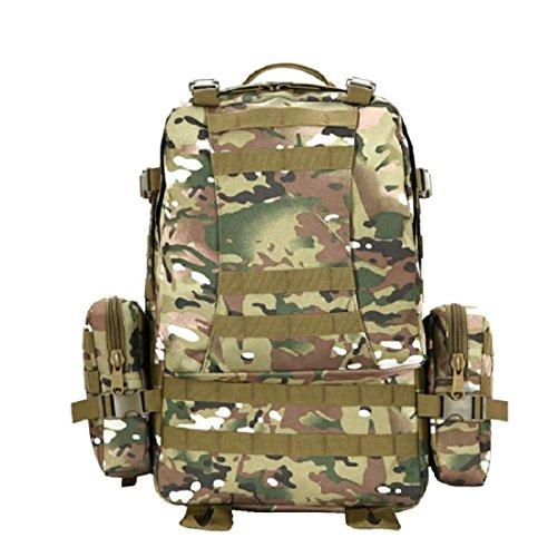 Z&N Backpack 50L Grande Capacità Zaino Combinato Borsa A Tracolla Esterna Zaino Tattico Attacco Militare Borsa Da Viaggio Viaggio Alpinismo Borsa Da Viaggio Uso Quotidiano B 50L E