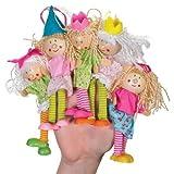 Classic Fairy Fingerpuppe Spielzeug mit Kleidung und mit Holzelementen