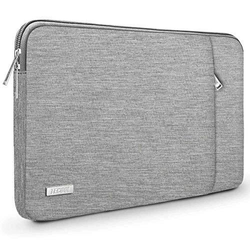 TECOOL Funda para Ordenador Portátil, Maletín Bolso Protector para 2016-2019 MacBook Pro 15, y 14-14,1 Pulgadas Portátiles Acer ASUS DELL Lenovo HP Huawei Ultrabook Netbook, Gris
