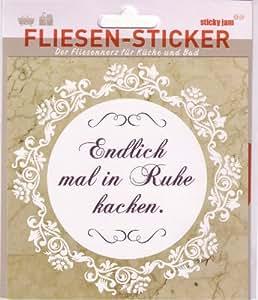 Sticky Jam Fliesen Sticker Endlich mal in Ruhe ...