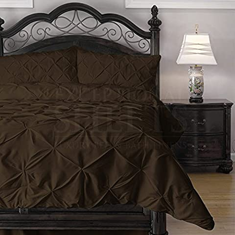 4 Piece Pinch Pleat Puckering Cozy All Seasons Duvet / Quilt Set by ExceptionalSheets, Double (218 x 218),