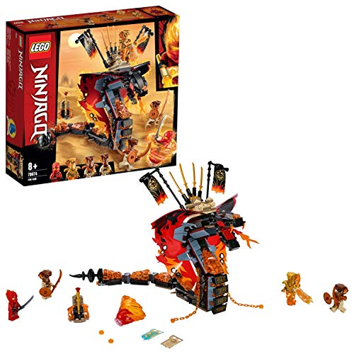 LEGO 70674 NINJAGO Fire Fang Snake Toy for Kids with 4 Minifigures, Masters of Spinjitzu Playset Best Price and Cheapest