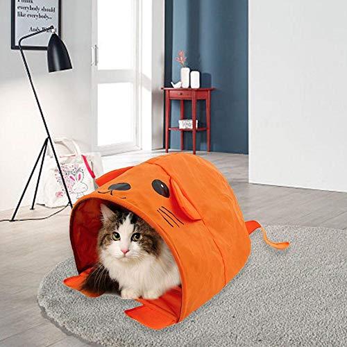 smilerr Cat Crinkle Tunnel Bed Pieghevole Kitty Sleeping Bag Casa per animali portatile per divano Cage Car Floor friendly