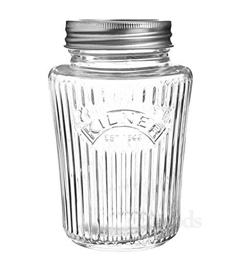 Kilner - Einmachglas, Einkochglas, Vorratsglas - Vintage Preserve Jar - 1 Liter - Glas - mit Deckel Classic Storage Jar