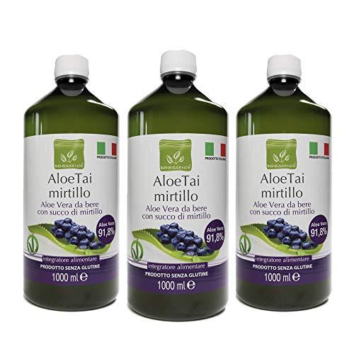 Benessence - Succo di Aloe Vera e Mirtillo - 3L - Prodotto Italiano