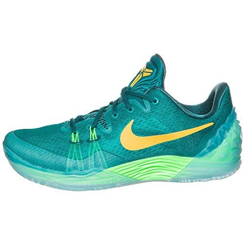 Nike Zoom Kobe Venomenon 5, Chaussures de Sport-Basketball Homme Multicolore - Verde / Naranja / Gris (Rdnt Emerald / Lsr Orng-Vlt-Tl)