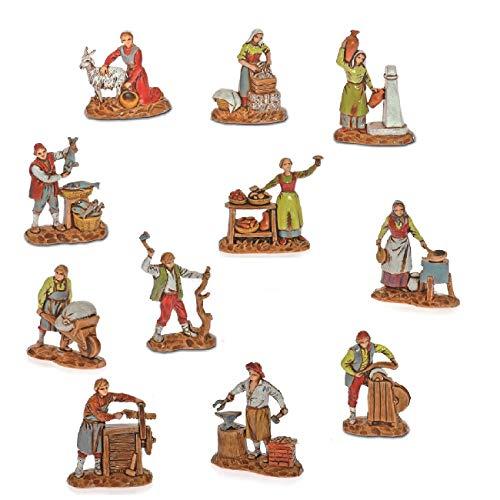 Moranduzzo 11 mestieri in busta, 3.5 cm, multicolore