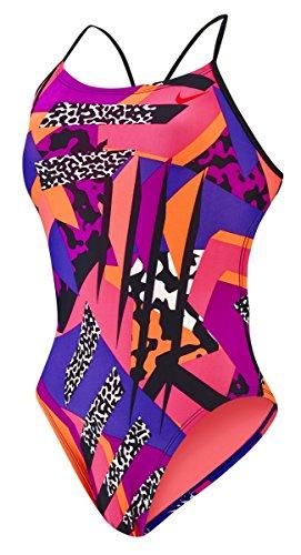 Nike Frauen Retro-Cut-Out-Tank-Badeanzug (36, Vivid Purple) (Tank Nike-cut-out)