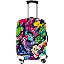 Xinvision Elástico Mariposa Impreso Caja de la carretilla Equipaje Protector Luggage Bolsa Viaje Maleta Cubierta Anti