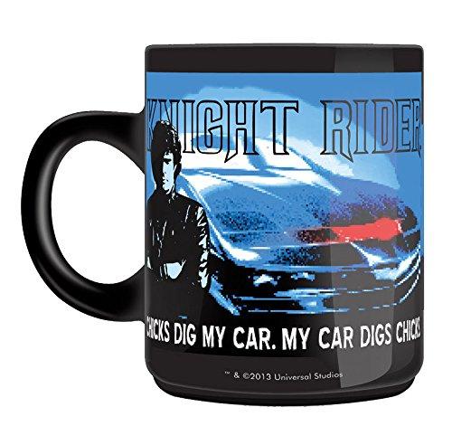 """50 Fifty Concepts - Tazza """"Knight Rider"""", colore: Nero"""