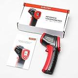 Laser Infrarot Thermometer, Eventek Pyrometer Temperaturmessgerät -50 bis +380°C, Berührungslos Thermometer Digital LCD Beleuchtung, schwarz/rot Vergleich