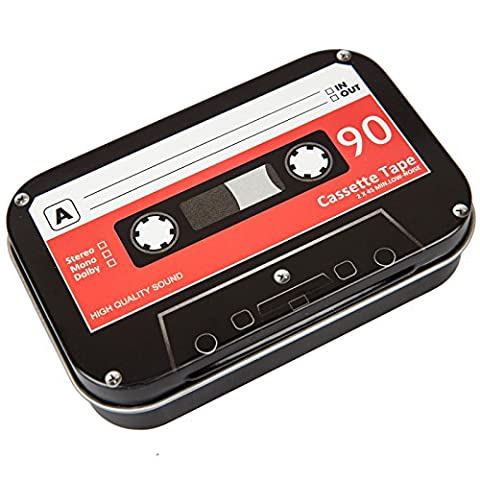 Retro Cassette Tape Metal Storage Box