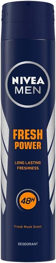 Nivea Men Deodorant, Fresh Power, 200 ml