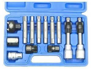 Famex 14518 Mallette d'outils 13 pièces pour le démontage de la poulie d'alternateur débrayable (Import Allemagne)