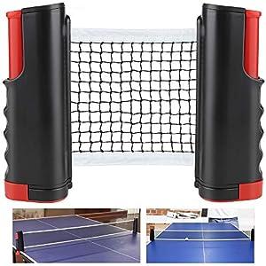 CHUER Tischtennisnetze Tischtennis Netze, Justierbarer Einziehbares Netz Ping Pong Ersatznetz, Beweglicher Reisehalter…