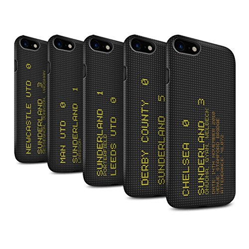 Officiel Sunderland AFC Coque / Matte Robuste Antichoc Etui pour Apple iPhone 7 / 2013 Design / SAFC Résultat Football Célèbre Collection Pack 6pcs