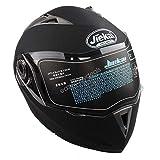 Estink Motorradhelm, Genehmigt Integralhelm Fullface Klapphelm Motorrad Roller Sturz Helm, mit Sonnenblende (XXL, Matt-schwarz)