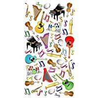 Purple Peach Fun, Social and Educational Sticker Sheets (Pack of 12) Musical Instruments for Parents and Teachers 248
