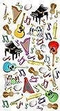 Purple Peach divertido, Social Y Educativo adhesivo hojas (12unidades) de instrumentos musicales para los padres y los maestros 248
