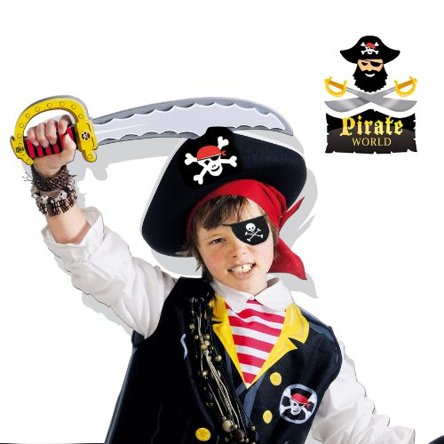 Imagen 2 de SES Creative - Pirate World, pañuelo y parche para ojo, multicolor (09857)