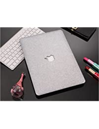 """Aavjo® Gliter Bling Shiny Frosted Rigid Plastic With Logo Cut Case Cover For Apple Macbook Pro 15"""" Inch (2016..."""