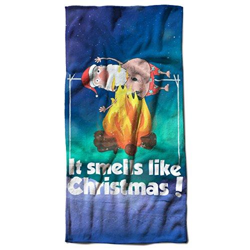 Es riecht mögen Weihnachten Weihnachtsmann Brennen 30cm x 60cm Badetuch   (Kostüm Gute Burger)