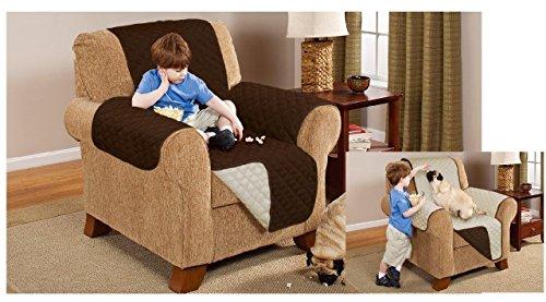 einplätzige wendbar Sofa Möbel Slip Cover Displayschutzfolie creme Schokolade (Elle Slip)