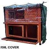 Kleintierstall über 2 Ebenen, geeignet für Kaninchen und Meerschweinchen, mit grüner Abdeckung und erhöhten Füßen, 1,2°m - 8