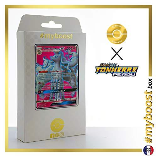 Feunard d'Alola-GX (Ninetales de Alola-GX) 205/214 Full Art - #myboost X Soleil & Lune 8 Tonnerre Perdu - Box de 10 Cartas Pokémon Francés