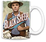 World Designz Eine Million Möglichkeiten, im schwarzen Schaf des Westens zu sterben - A Million Ways to Die In The West Black Sheep Unique Coffee Mug | 11Oz Ceramic Cup| The Best Way to Surprise