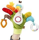 Fehn 067675 Spielhandschuh Tukan, Jungle Heroes, mehrfarbig