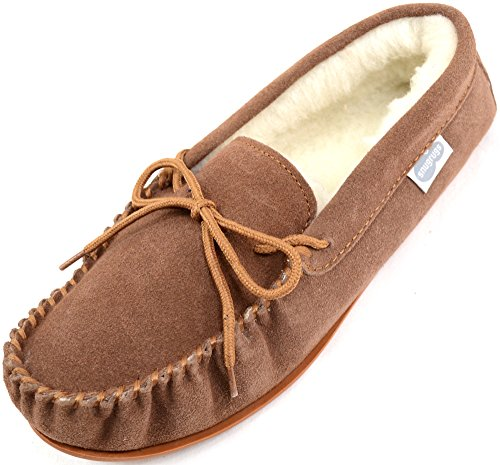 Snugrugs Monty, Wool Lined Moccasin Slippers, Men's  Low-Top Slippers, Brown (Light Brown), 9 UK (43.5 EU)