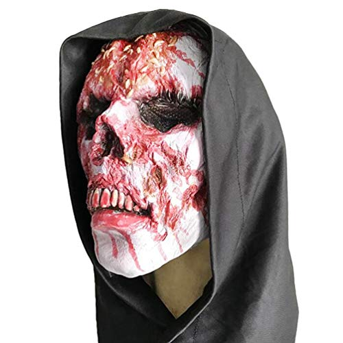 Monster Schädel Maske - Amosfun Halloween Maske Zombie Maske Blut