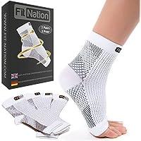 Fit Nation - (2 Paar Kompressionssocken/Fußgelenk Bandage für effektive Kompression beim Laufen & Sport - Kompressionsstrümpfe für Damen & Herren