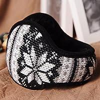 MEICHEN-maglia peluche unisex caldo inverno fiocco di neve earmuff cuffie ear orecchio di copertura più caldo,in bianco e nero
