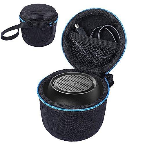 Tasche für Anker SoundCore Mini Super Mobiler Bluetooth Lautsprecher Speaker, kabelloser Lautsprecher Passend für USB-Kabel und Ladegerät. (Schwarz)