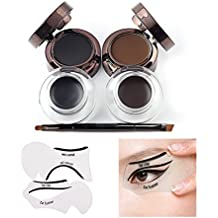 VONISA Waterproof delineador de cejas en Gel Eyeliner Brocha Para Maquillaje Y Plantillas Para Maquillaje Negro