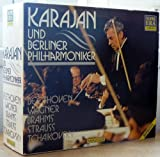 KARAJAN AND BELINER PHILHARMONIKER- LIVE- 6CD BOX SET- BEETHOVEN SYMPHONY NO.3, WAGNER RING HIGHLIGHTS, BRAHMS SYMPHONY NO.3 & 4, RICHARD STRAUSS EIN HELDENLEBEN, BRAHMS HAYDN VARIATION, TCHAIKOVSKY NO.5 & BEETHOVEN NO. 9 -