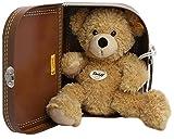 Steiff Fynn Teddybär Kuscheltier, beige, im Koffer, 28 cm