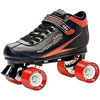 Roller Derby Viper M4 - Patines tradicionales (ruedas en paralelo), color negro y rojo Talla:UK4