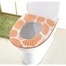 Warme Flanelljacke Paste Toilette Töpfchen Sitz Nach Hause Hotel Toilette Matte Toilette Abdeckung Wasserdicht,Yellow-OneSize