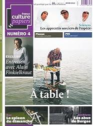France Culture Papiers, N° 4, Hiver 2012 :