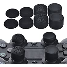 YoRHa Profesional Thumb Grips Thumbstick de los pulgares Cubierta del joystick (negro) Extra alto 8 Unidades Paquete Para PS4, Switch PRO, PS3, Xbox 360, Wii U tablet, PS2 Mando