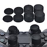 YoRHa Professionnelles Thumb Grips Poignées Capuchon pouce extra large pack de (noir) 8 unités pour PS4, Switch PRO, PS3, Xbox 360, tablette Wii U, PS2 Manette