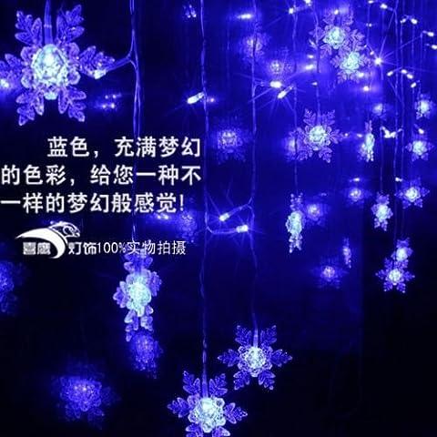Multi 3,5m 100smd Snowflake LED tenda della stringa Luci vacanza Natale decorazione