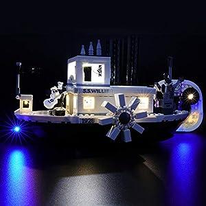 BRIKSMAX Kit di Illuminazione a LED per Lego Steamboat Willie, Compatibile con Il Modello Lego 21317 Mattoncini da… 0713721597864 LEGO