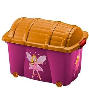 boite de rangement plastique roulettes pour enfants mod le f es jouet. Black Bedroom Furniture Sets. Home Design Ideas